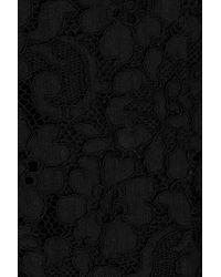 Dolce & Gabbana | Black Cropped Cottonblend Lace Jacket | Lyst