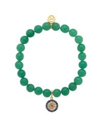 Melissa Odabash | Green Jade Evil Eye Stretch Bracelet | Lyst