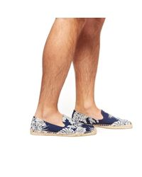 Soludos - Blue Mens Smoking Slipper Prints for Men - Lyst