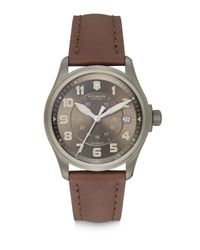 Victorinox | Stainless Steel Automatic Strap Watch/brown for Men | Lyst