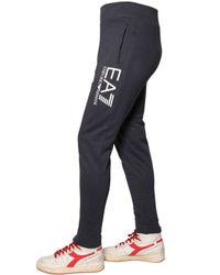 EA7 - Blue Cotton Sweatshirt & Jogging Pants for Men - Lyst