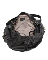 Marc By Marc Jacobs Black Leather Drawstring Bucket Bag