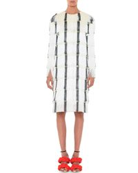 Marco De Vincenzo - White Layered Fringe Mid-length Coat - Lyst