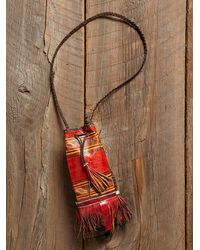 Free People - Multicolor Vintage Hand Painted Leather Bag - Lyst