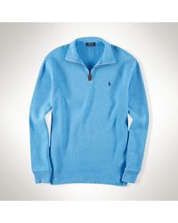 Polo Ralph Lauren | Blue French-rib Half-zip Pullover for Men | Lyst