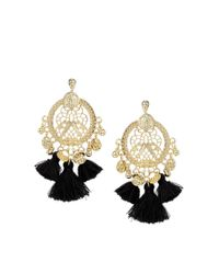 ASOS | Black Rio Tassel Earrings | Lyst