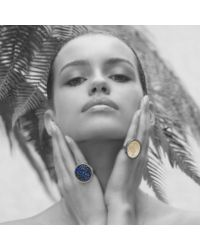 Sonal Bhaskaran - Blue Aurora Silver Cocktail Ring - Lyst