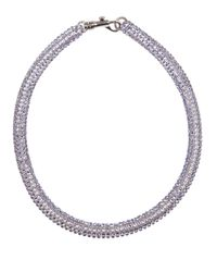 Atelier Swarovski - Blue Tubular Crystal Necklace - Lyst