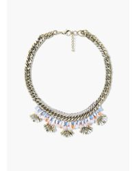 Mango | Metallic Bead Chain Necklace | Lyst