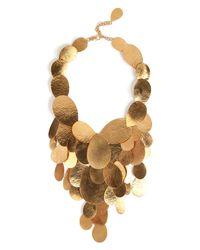 Herve Van Der Straeten | Metallic Hammered Gold-Plated Tears Layered Necklace | Lyst
