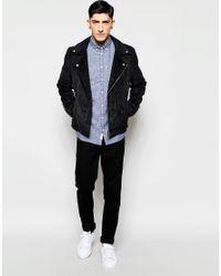 Minimum | Multicolor Shirt In Blue Textured Cotton In Regular Fit for Men | Lyst