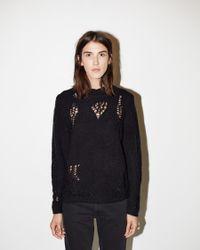 3.1 Phillip Lim - Black Open-knit Sweater - Lyst