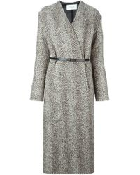 Lemaire - Natural Long Belted Wrap Coat - Lyst