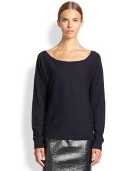 Tamara Mellon - Blue Off-The-Shoulder Cashmere Sweater - Lyst