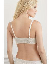 Forever 21 - White Heathered Lace Trim Bralette - Lyst