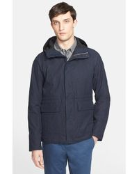 Norse Projects - Blue 'nunk' Hooded Cotton Jacket for Men - Lyst