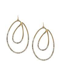 Jessica Simpson - Metallic Goldtone Sparkling Twist Drop Earrings - Lyst