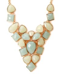 Forever 21 - Blue Opulent Faux Gemstone Necklace - Lyst
