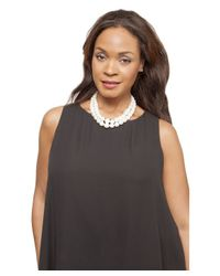 Kenneth Jay Lane | White Elle Pearl Necklace | Lyst