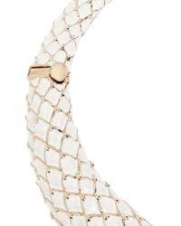 Roberto Cavalli - White Dragon Goldplated Enamel and Swarovski Crystal Necklace - Lyst