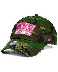 47 Brand - Green Western Kentucky Hilltoppers Fashion Clean Up Cap for Men - Lyst