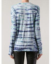 Proenza Schouler   Blue Tissue Jersey T-Shirt   Lyst