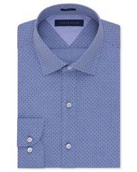 Tommy Hilfiger - Easy Care Slim-fit Blue Dobby Dot Dress Shirt for Men - Lyst