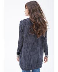Forever 21 | Gray Marled Knit Dolman-sleeve Cardigan | Lyst