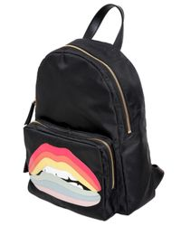RED Valentino | Red Rainbow Lips Patch Backpack | Lyst