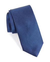 Eton of Sweden - Blue Solid Silk Tie for Men - Lyst