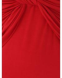 Jane Norman - Red 3 /4 Sleeve Twist Jersey - Lyst