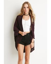 Forever 21 | Purple Marled Knit Dolman Cardigan You've Been Added To The Waitlist | Lyst