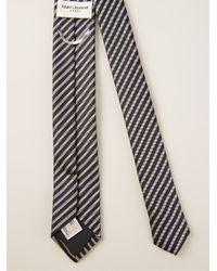 Saint Laurent - Black Striped Tie for Men - Lyst