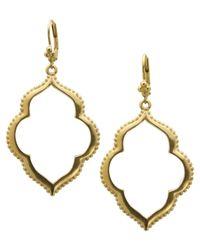 T Tahari   Metallic 14k Gold-plated Drop Earrings   Lyst