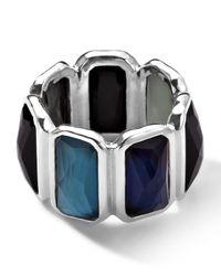 Ippolita   Blue Wonderland Quartz & Mother-of-pearl/pyrite Brick Ring   Lyst