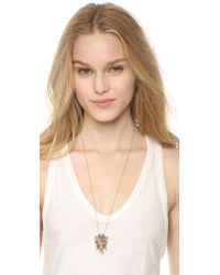 House of Harlow 1960 - Metallic Elephant Prosperity Pendant Necklace Gold - Lyst