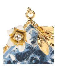 Dolce & Gabbana | Blue Embellished Clip-on Earrings | Lyst