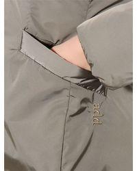Add - Gray Hooded Nylon Down Parka - Lyst
