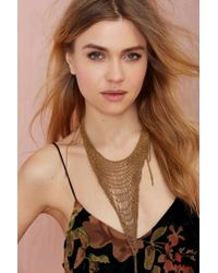 Nasty Gal | Metallic Cecilia De Bucourt Netted Chain Necklace | Lyst