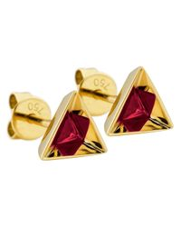 Ruifier | Red 'stella' Ruby Earrings | Lyst