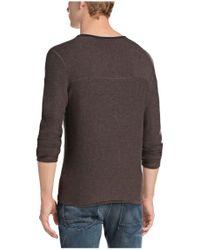 BOSS Orange - Brown Cotton Knit Shirt 'kale' for Men - Lyst