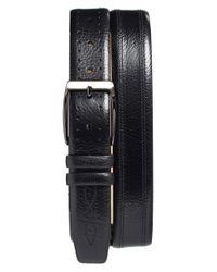 Mezlan - Black 'perseo' Leather Belt for Men - Lyst