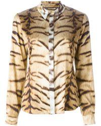 Roberto Cavalli | Natural Tiger Print Shirt | Lyst