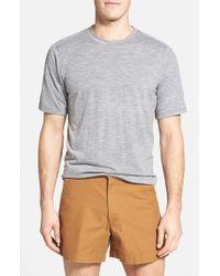 Ibex | Gray Regular Fit Overdyed Merino Wool T-shirt for Men | Lyst