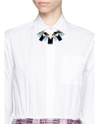 Scho - Multicolor Czech Crystal Plastron Necklace - Lyst