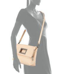 Badgley Mischka - Natural Brynn Leather Crossbody Bag - Lyst