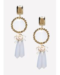 Bebe | Gray Lucite Statement Earrings | Lyst