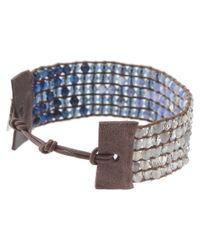 Chan Luu - Blue Cuff Bracelet With Swarovski Crystals - Lyst