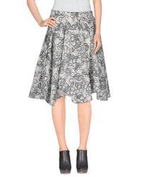 Julien David | White Knee Length Skirt | Lyst