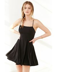 Silence + Noise   Black Noir Strappy-back Mini Dress   Lyst
